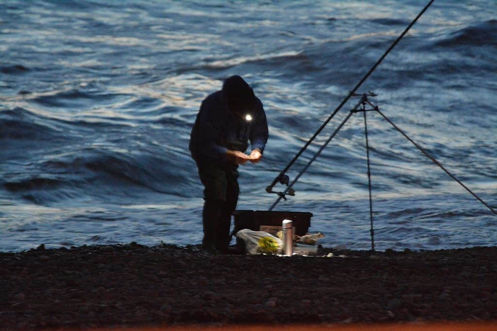 surf fishing at night