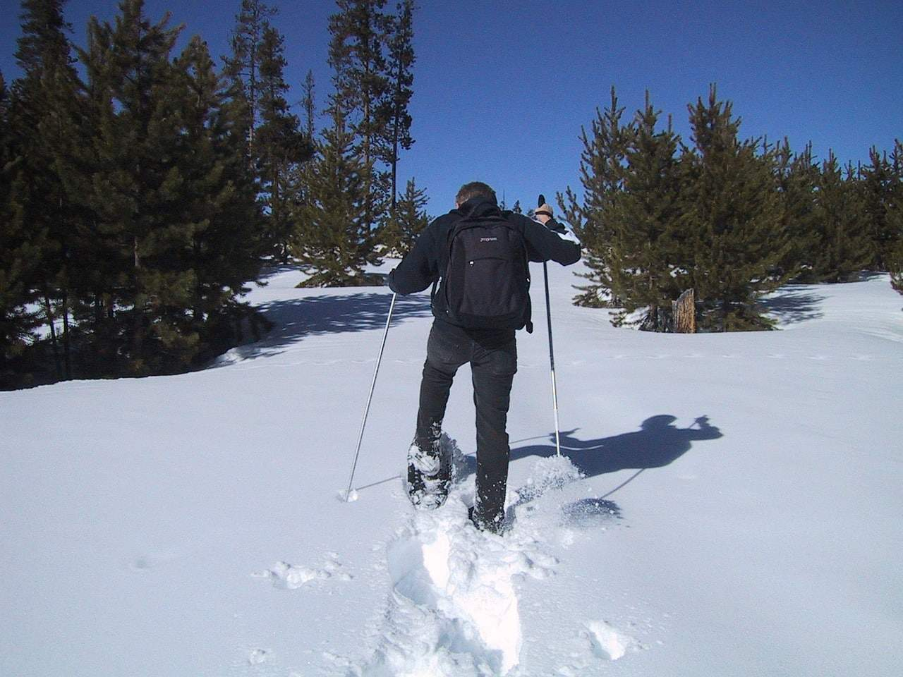 how to snowshoe uphill