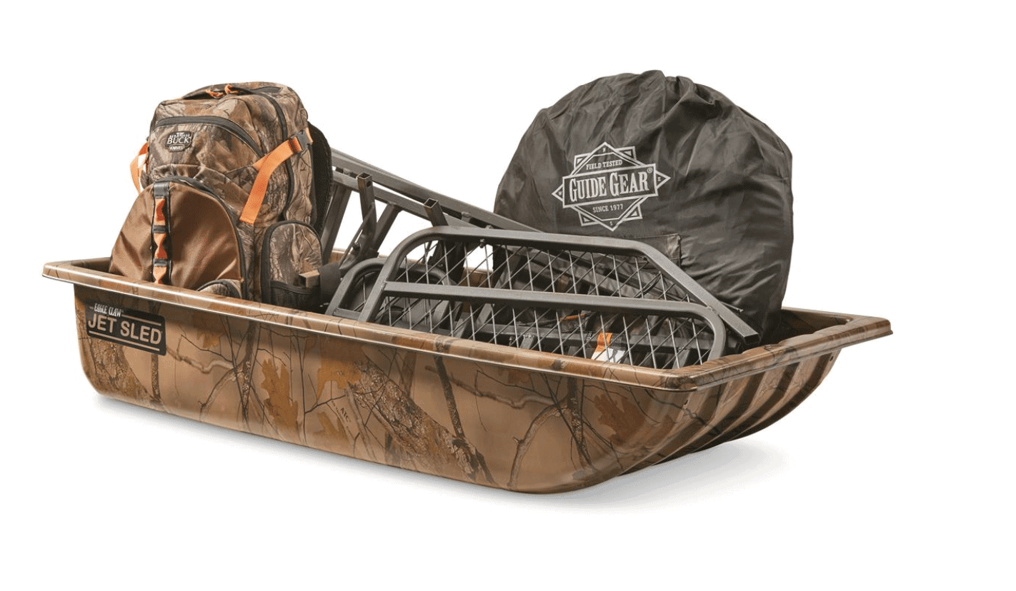 Shappell Camo Jet Sled 1 with SWB3 Sled Wear Bars