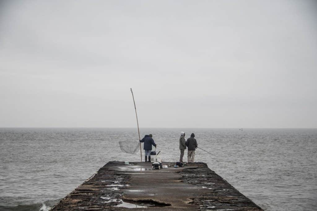 is it better to fish in the rain